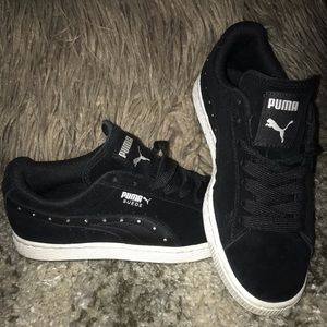PUMA suede shoes with crystals
